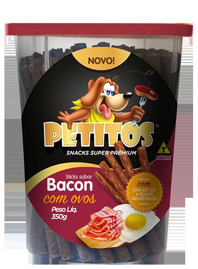 PETITOS STICK SABOR BACON COM OVOS 350g Image