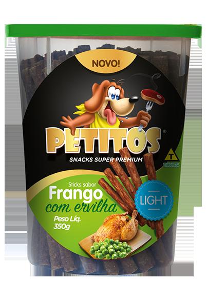PETITOS STICK SABOR FRANGO COM ERVILHA LIGHT 350g Image